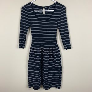 Anthropologie ribbed striped sweater dress